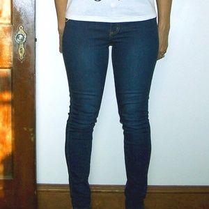 Denim - Columbian Skinny Contour Jeans Dark Blue Stonewash
